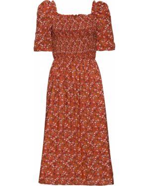 Платье миди с рукавами Bonprix