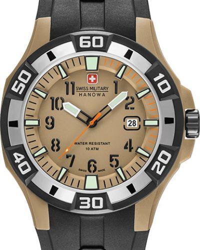 Часы водонепроницаемые с подсветкой стрелочные Swiss Military Hanowa