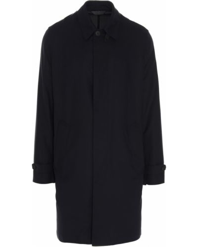Czarny płaszcz Brioni