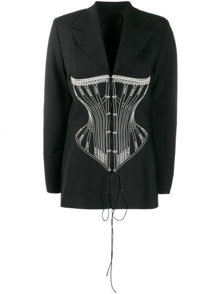 Шерстяной черный пиджак с лацканами Seen Users