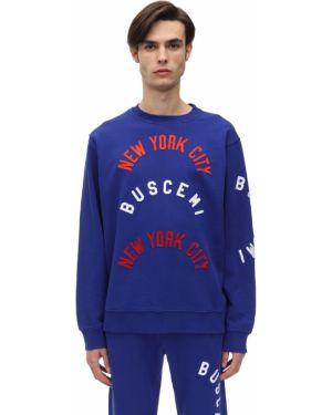 Prążkowana niebieska bluza bawełniana Buscemi