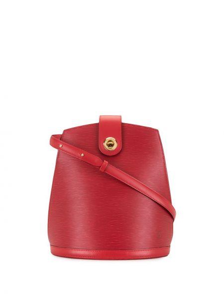 Кожаная красная сумка на плечо винтажная Louis Vuitton