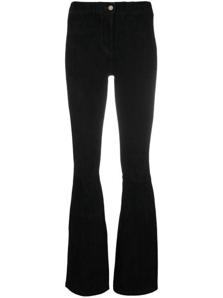Кожаные черные прямые брюки Arma