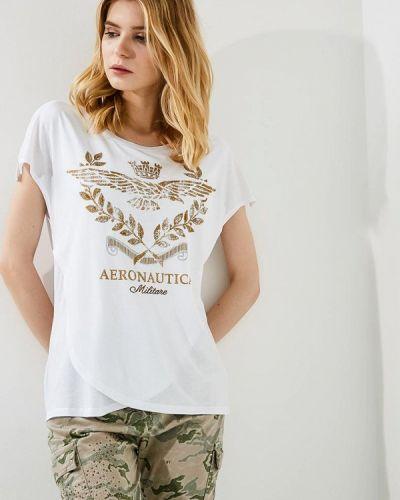 Белая футболка Aeronautica Militare