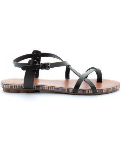 Czarne sandały Porronet