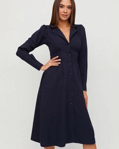 Синее платье-рубашка Karree