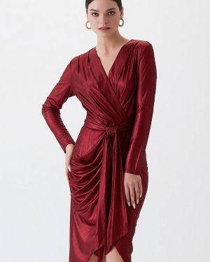 Вечернее платье красный осеннее Love Republic
