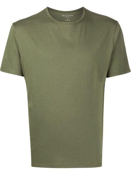Koszula krótkie z krótkim rękawem prosto zielona Officine Generale