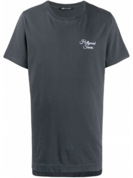 Czarny t-shirt bawełniany z printem Htc Los Angeles