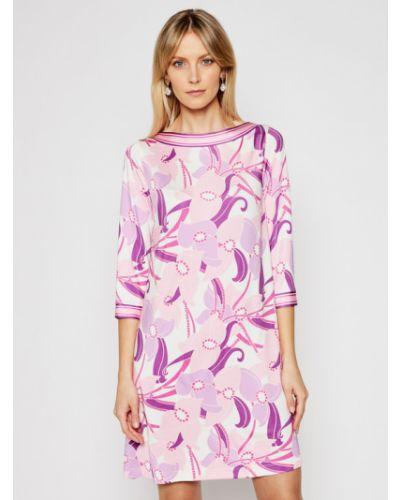 Różowa sukienka casual Luisa Spagnoli
