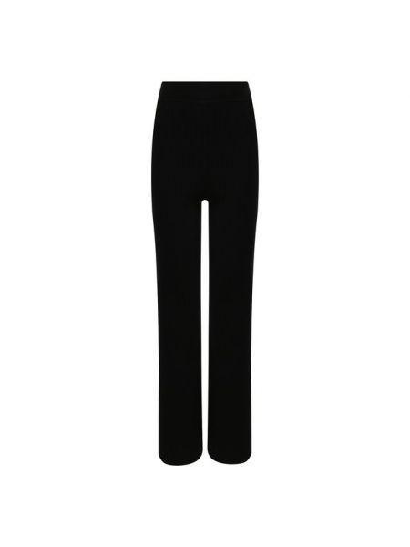 Шерстяные мягкие черные брюки с высокой посадкой Markus Lupfer