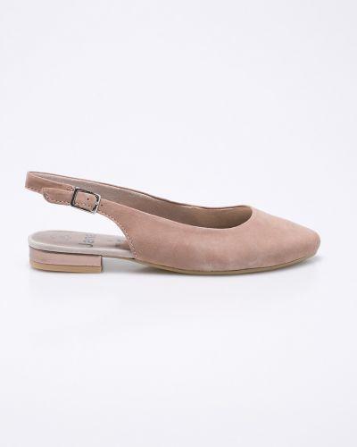 Розовые сандалии текстильные Jana