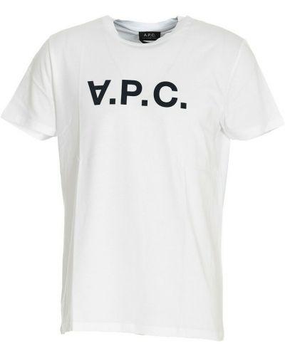 Biała t-shirt A.p.c.