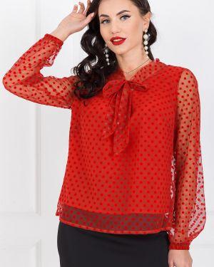 Блузка сетка красная Taiga
