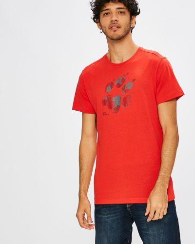 Красная футболка Jack Wolfskin