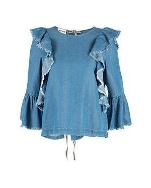 Блузка синяя Semicouture