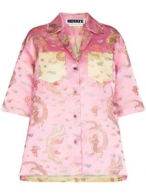 Рубашка с коротким рукавом - розовая Rotate