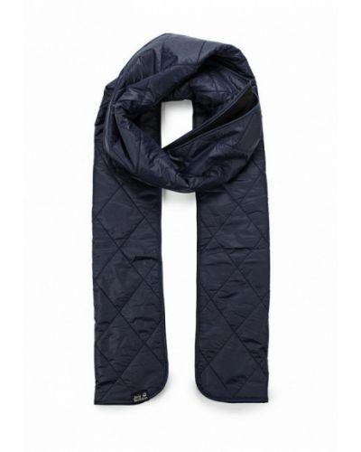 Синий шарф осенний Jack Wolfskin