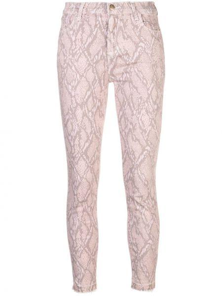 Розовые брюки с поясом узкого кроя на молнии J Brand
