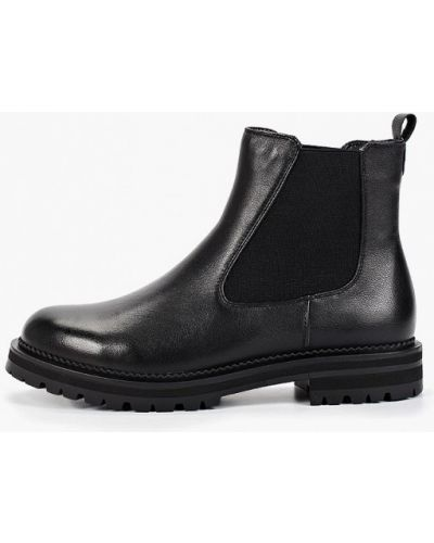 Черные кожаные ботинки челси Thomas Munz