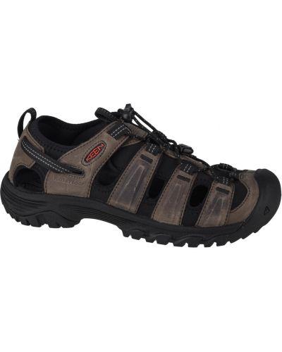 Sandały skórzane - szare Keen