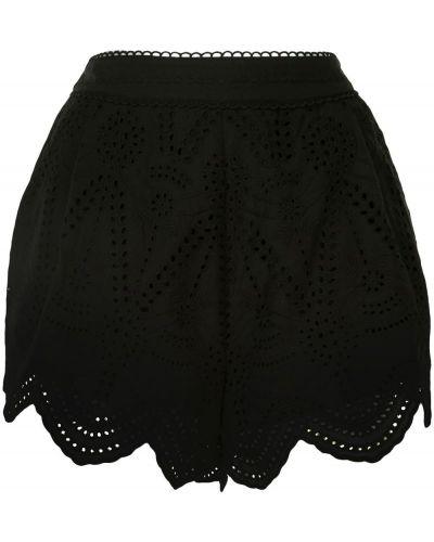 Хлопковые черные с завышенной талией шорты We Are Kindred