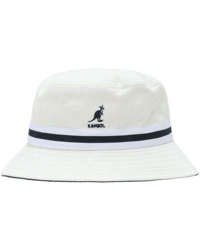 Ватная хлопковая белая шляпа с вышивкой Kangol