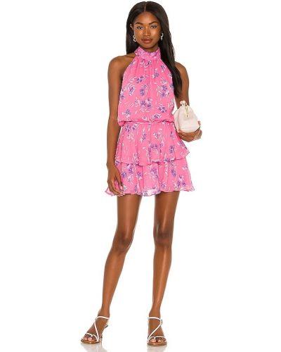 Розовое платье а-силуэта Yumi Kim
