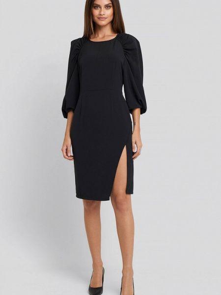 Черное вечернее платье Na-kd