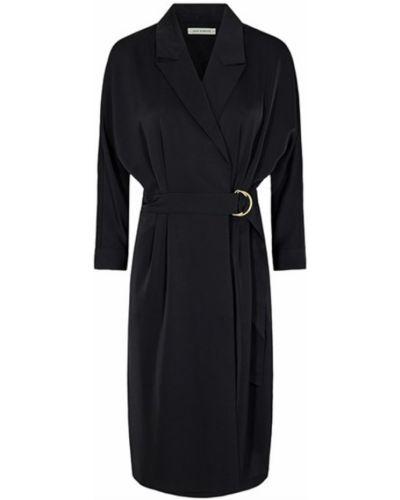 Sukienka midi z paskiem - czarna Sofie Schnoor