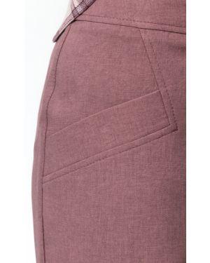 Деловая юбка миди на молнии с поясом Modellos
