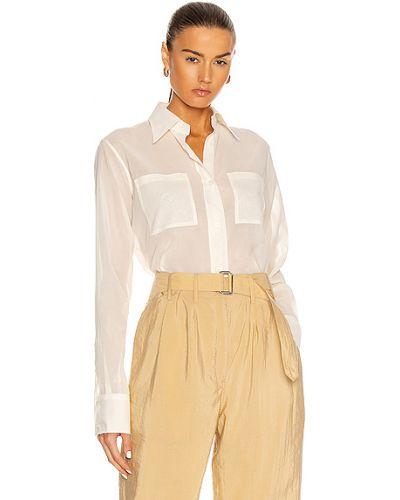 Biała koszula bawełniana do pracy Lemaire