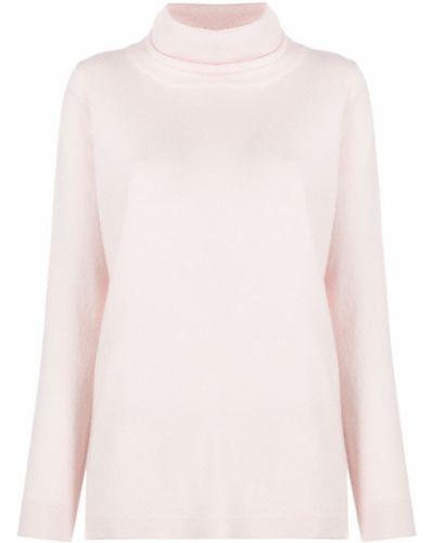Свободные кашемировый розовый вязаный джемпер свободного кроя Allude