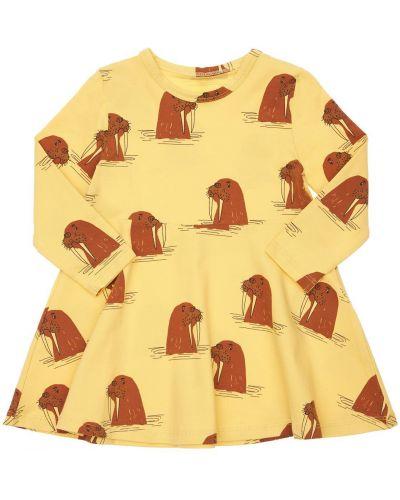 Хлопковое платье - желтое Mini Rodini