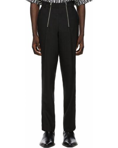 Czarne spodnie srebrne Gmbh