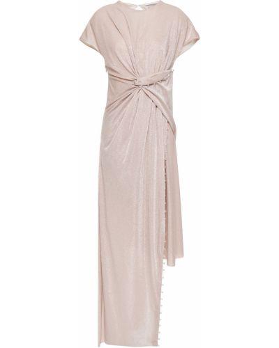 Асимметричное платье с люрексом с драпировкой Lanvin