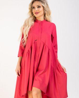 Джинсовое платье на пуговицах платье-сарафан Ellcora