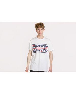 Klasyczny biały t-shirt bawełniany Fila