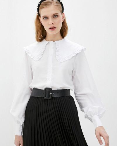 С рукавами белая блузка Imocean