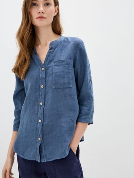 Блузка с длинным рукавом синяя весенний Perfect J