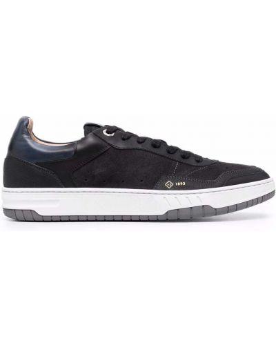 Niebieskie sneakersy zamszowe Dunhill
