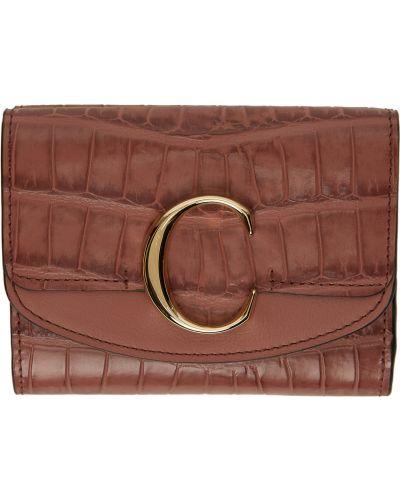 Złoty portfel - różowy Chloe