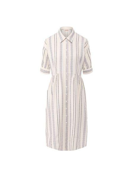 Акриловое бежевое платье Paul&joe