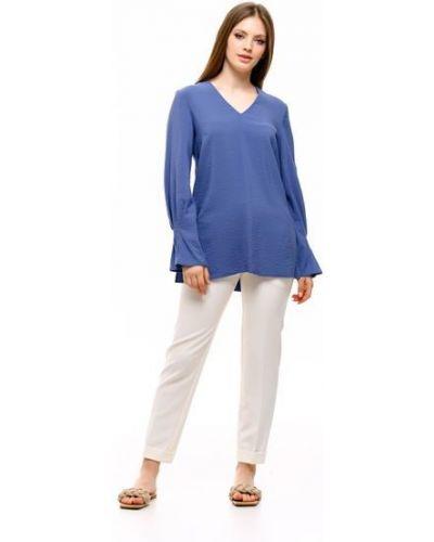Блузка из вискозы - голубая Alito