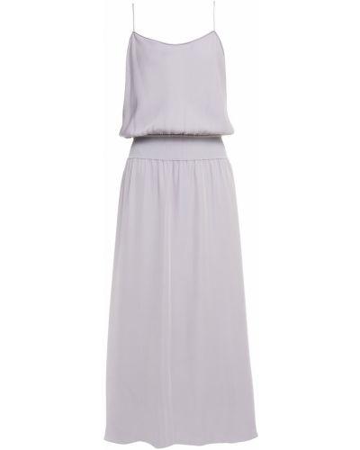 Сиреневое шелковое платье Theory