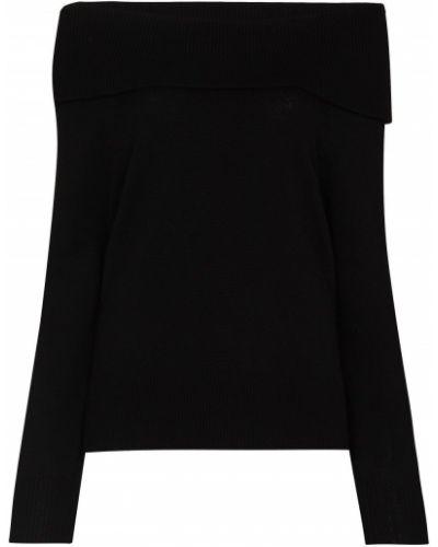Шерстяная черная приталенная джемпер Paige