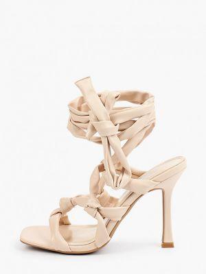 Бежевые резиновые босоножки Ideal Shoes®
