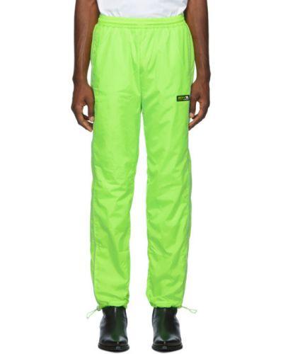 Czarne spodnie z nylonu z siateczką Misbhv