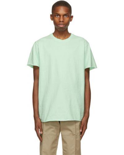Zielony bawełna koszula krótkie rękawy John Elliott