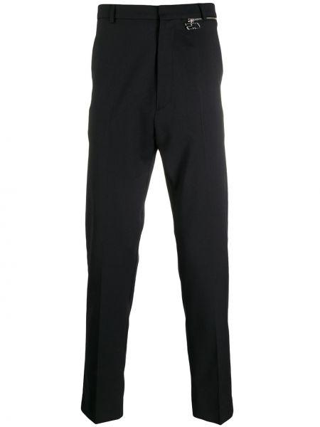Черные деловые прямые брюки с карманами новогодние Cmmn Swdn